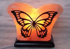 Солевая лампа Бабочка с узором 1,5-2,5 кг