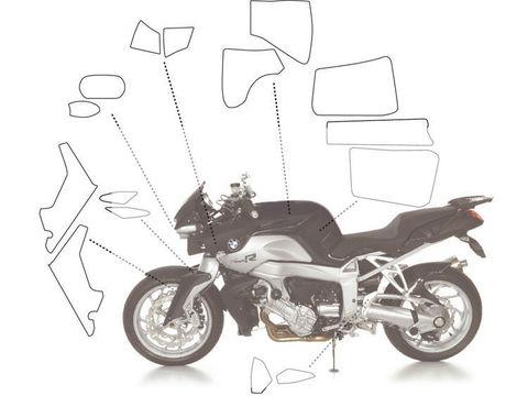 Прозрачные наклейки для защиты краски BMW K1200R (набор)