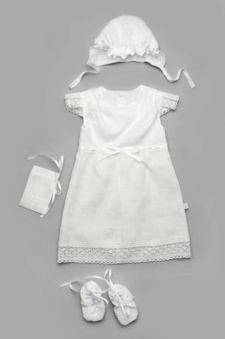 Крестильная рубашка для девочки белая