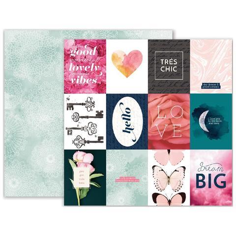 Лист бумаги 30х30см Moonstruck- Pink Paislee