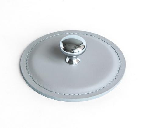Пресс папье утяжелитель для бумаг кожа Cuoietto (Италия) цвет серый.