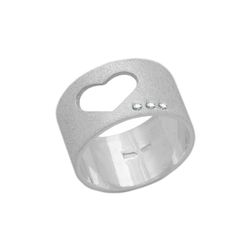 Серебряное МАТОВОЕ широкое кольцо