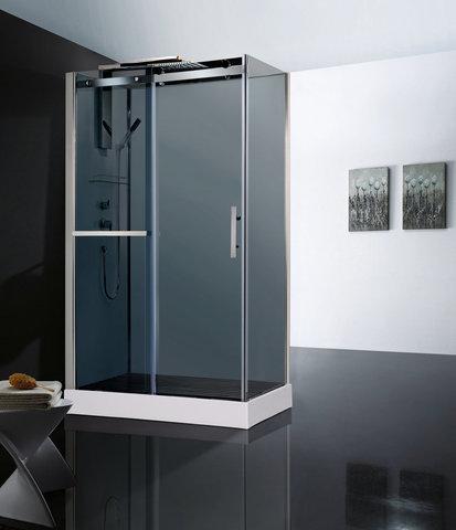 Душевая кабина Orans OLS-SR8629 ED REVERSIBLE, 80x120см. профиль хром, стекло прозрачное, универсальная