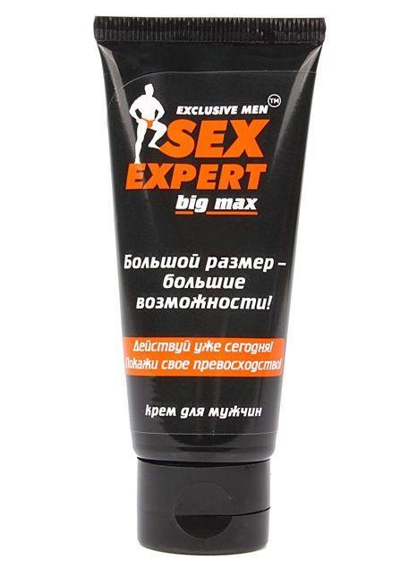 Вакуумные помпы: Крем для мужчин BIG MAX серии Sex Expert - 50 гр.