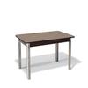 Стол кухонный KENNER 1100S раздвижной, стекло капучино, подстолье венге/хром