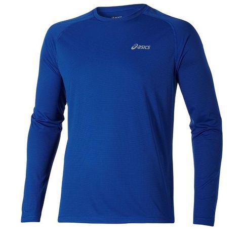 Беговая рубашка Asics LS Crew Blue