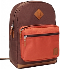 Рюкзак для ноутбука Bagland Zanetti 16 л. коричневий/кирпич (0011766)