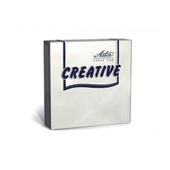 Салфетки ASTER Creative 3сл.24х24 белые 20шт./уп.