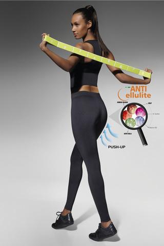 Леггинсы для фитнеса антицеллюлитные черные