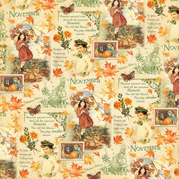 Бумага для скрапбукинга November Montage, Graphic45