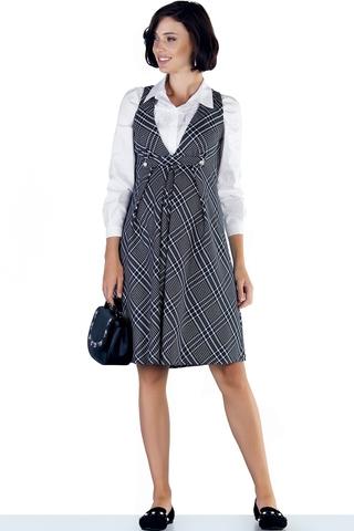 Платье 09768 черно-белый