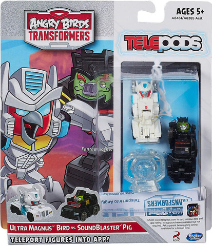 Набор 2 транформеров телепод Энгри Бердз - Transformers Telepods Ultra Magnus и Sound Blaster, Hasbro