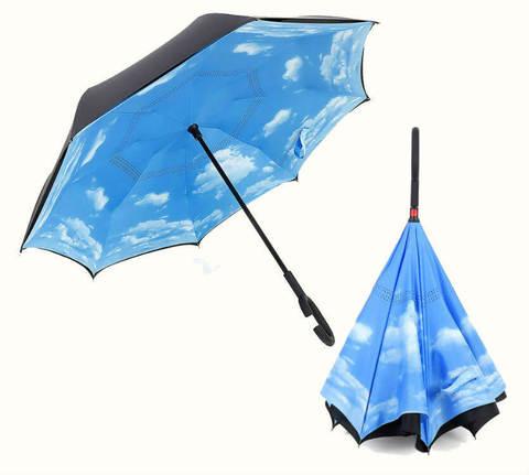Купить онлайн Обратный зонт ReU Sky (арт.RU-4) в магазине Зонтофф.
