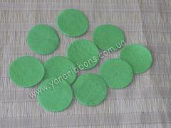 Фетровые кружочки - основы зеленые