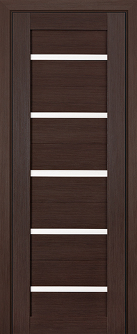 Дверь Profil Doors №7Х, стекло матовое, цвет венге мелинга, остекленная