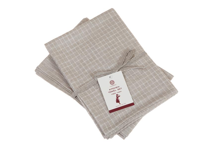 Набор полотенец 2 шт Luxberry Timeless mini натуральный/белый