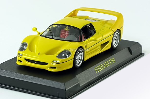 Ferrari F50 yellow 1:43 Eaglemoss Ferrari Collection #12