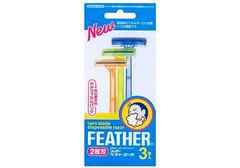 Одноразовый бритвенный станок Feather, 3шт