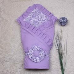 Летний конверт премиум класса Богемия (лиловый)