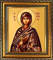 Фомаида Александрийская (Египетская) мученица. Икона на холсте.