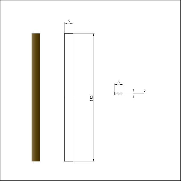 Брусок шлифовальный алмазный 125/100. Размер 6х150 мм