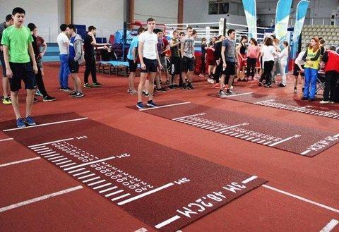 Разметочная дорожка для прыжков в длину с места, для сдачи норм ГТО (красная, терракотовая)