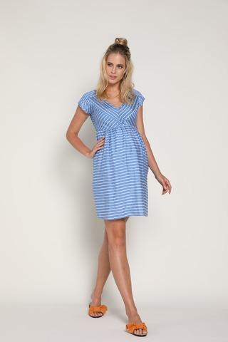 Платье 09377 голубой
