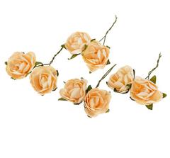 Розы из бумаги, 8 шт, 2-2,5 см.