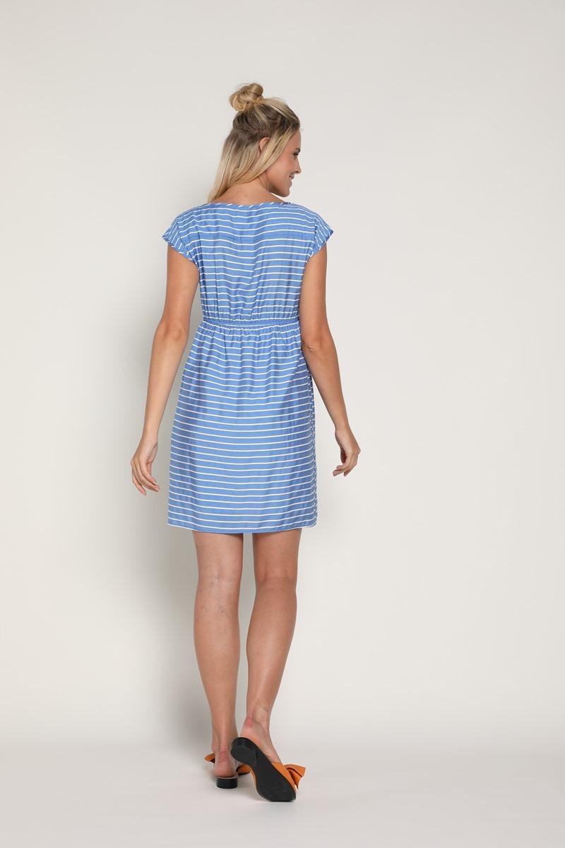 Платье для беременных и кормящих 09377 голубой