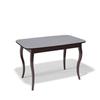 Стол кухонный KENNER 1200C, раздвижной, стекло серое, подстолье венге