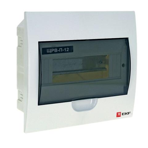 Щит распределительный встраиваемый, на 12 модулей ЩРВ-П-12мод., IP40, EKF (46012). Ecoplast (Экопласт). Pb40-v-12