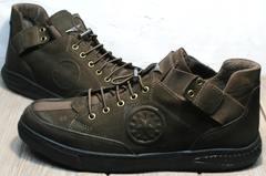 Кроссовки коричневого цвета мужские демисезонные Luciano Bellini 71748 Brown
