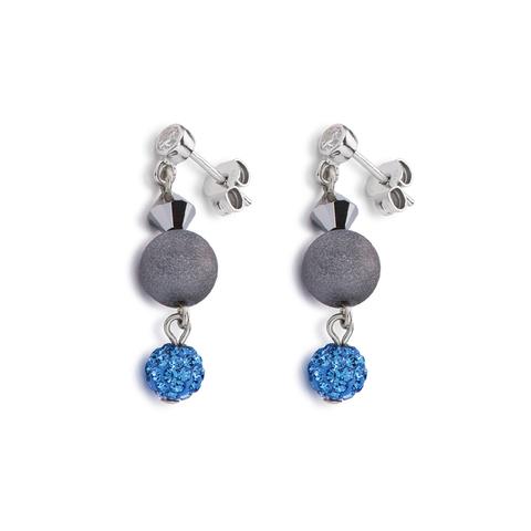 Серьги Coeur de Lion 4919/21-0706 цвет серый, голубой