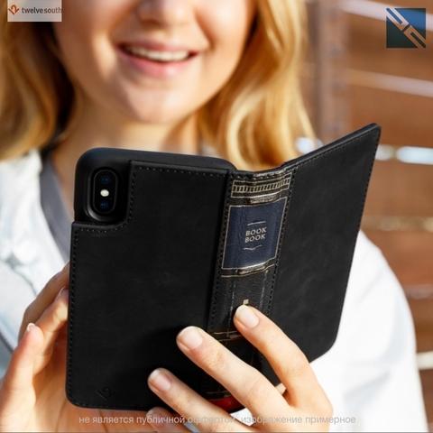 Чехол-книжка Twelve South BookBook для iPhone Xs/X кожа черный
