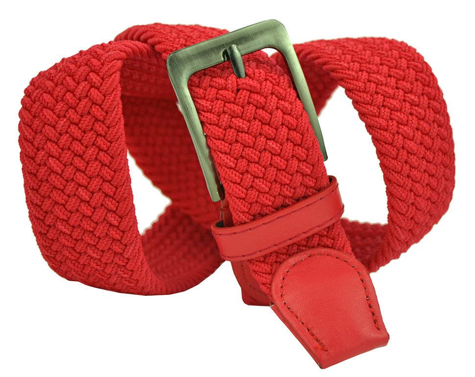 Ремень текстильный красный 35Rezinka-181