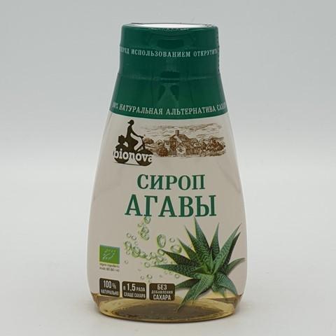 Агавы сироп светлый органический сахарозаменитель BIONOVA, 230 гр