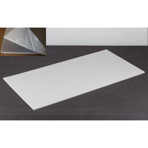 негорючая  акустическая панель ECHOTON FIREPROOF 100x50x1cm  из материала  BASOTECT белый с адгезивным слоем