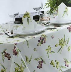 Скатерть 150x180 и 6 салфеток Mirabello Olive