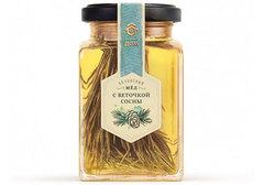 Мёд акациевый с веточкой сосны, 320г