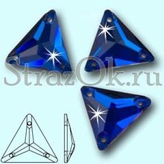 Стразы пришивные стеклянные Triangle Capri Blue, Треугольник Капри Блю, синий на StrazOK.ru