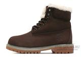 Ботинки Timberland 18027 Waterproof Chocolate Женские С Мехом