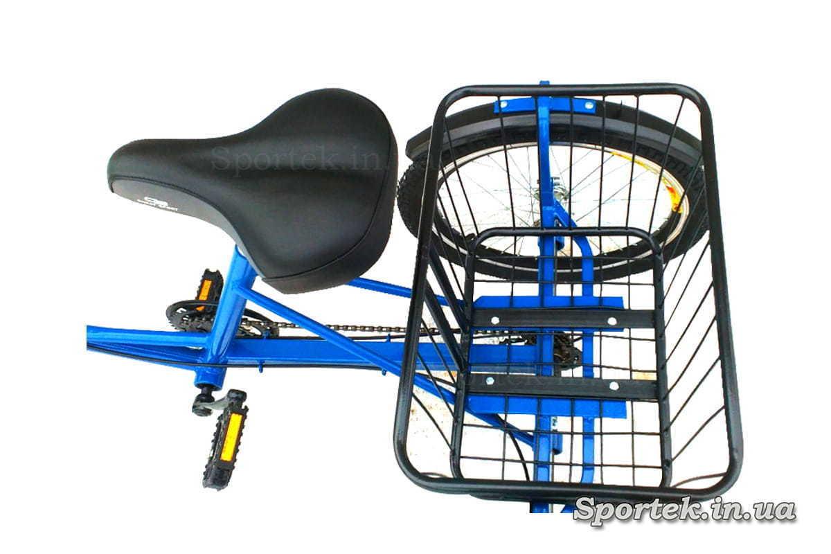Седло и корзинка трехколесного велосипед 'Городской с корзинкой'