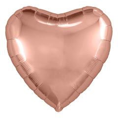 Ar 30''/76 см Сердце, Розовое Золото, в упаковке 1 шт.