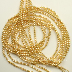 5810 Хрустальный жемчуг Сваровски Crystal Gold круглый 4 мм, 10 штук