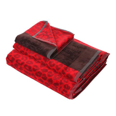 Набор полотенец 2 шт Roberto Cavalli Leo красный