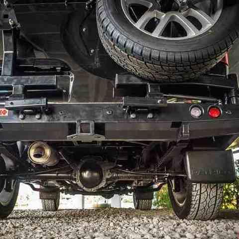 Установка заднего силового бампера УАЗ Патриот