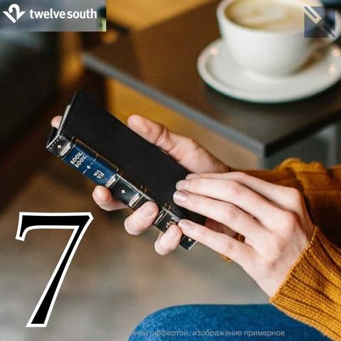 Чехол Twelve South BookBook iPhone 8, 7, 6s чехол-книжка кожа черный Black