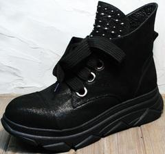 Женские демисезонные ботинки сникерсы Rifellini Rovigo 525 Black.