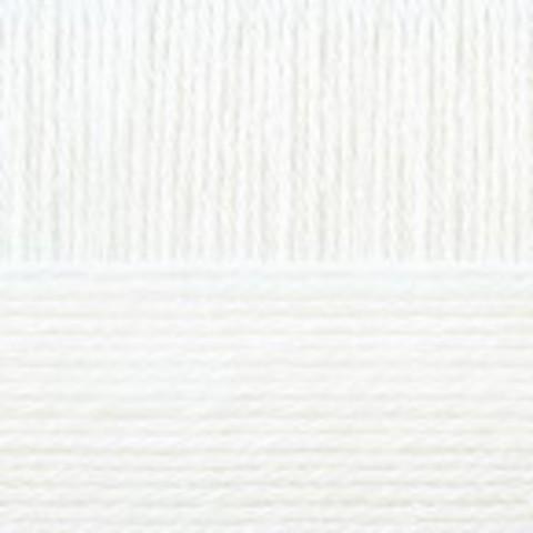Купить Пряжа Пехорка Кроссбред Бразилии Код цвета 001-Белый   Интернет-магазин пряжи «Пряха»