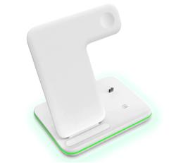 Беспроводное зарядное устройство 3 в 1 (15w) white